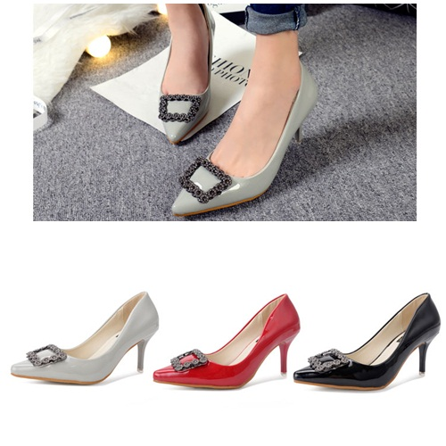 SH52860 IDR.214.000 MATERIAL PU-HEEL-7CM COLOR GRAY SIZE 35