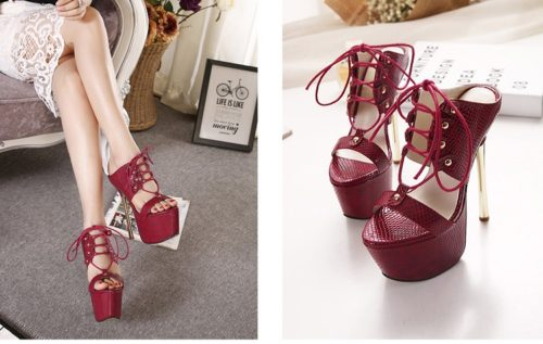 SH53237 IDR.230.000 MATERIAL PU-HEEL-16CM COLOR RED SIZE 36