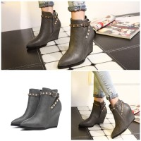 SH6317 IDR.280.000 MATERIAL PU-HEEL-9CM COLOR GRAY SIZE 36