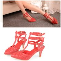 SH6552 IDR.265.000 MATERIAL PU-HEEL-6CM COLOR RED SIZE 35