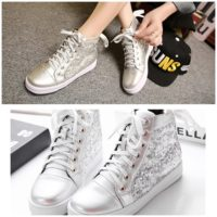 SH6669 IDR.274.000 MATERIAL SEQUIN HEEL 3CM COLOR SILVER SIZE 35,36,38,39