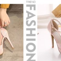SH87811 IDR.210.000 MATERIAL PU-HEEL-12CM COLOR PINK SIZE 35