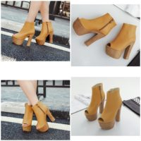 SHB11886 MATERIAL PU HEEL 14CM BROWN SIZE 35