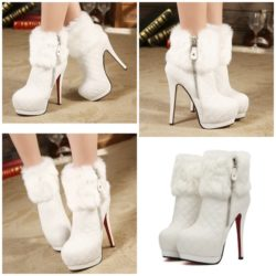SHB13286 MATERIAL PU HEEL 14.5CM COLOR WHITE SIZE 35