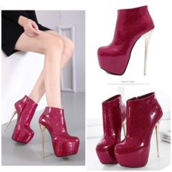 SHB25865 MATERIAL PU HEEL 16CM COLOR RED SIZE 36