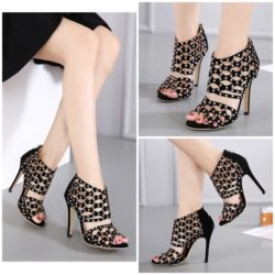 SHB93881 MATERIAL PU HEEL 11CM COLOR SILVER SIZE 35