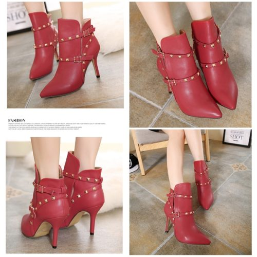 SHB98923 MATERIAL PU HEEL 10CM RED SIZE 36