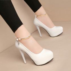 SHH00822 IDR.206.000 MATERIAL PU COLOR WHITE HEEL 12CM SIZE 35,36,37,38,39