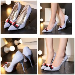 SHH10205 IDR.226.000 MATERIAL CANVAS COLOR BLUE HEEL 9CM SIZE 35,36,37,38,39