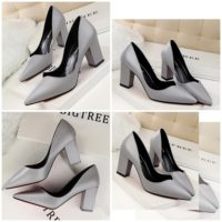 SHH10695 MATERIAL PU HEEL 7CM COLOR GRAY SIZE 35