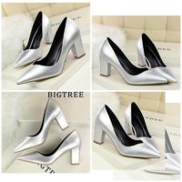 SHH10695 MATERIAL PU HEEL 7CM COLOR SILVER SIZE 35