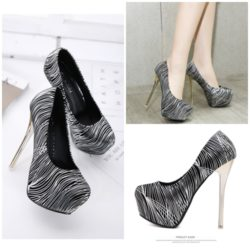 SHH125-801 IDR.220.000 MATERIAL PU COLOR SILVER HEEL 14CM SIZE 35,36,37,38,39