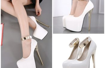 SHH13142 IDR.252.000 MATERIAL PU HEEL 18CM COLOR WHITE SIZE 35,36,37,38,39,40