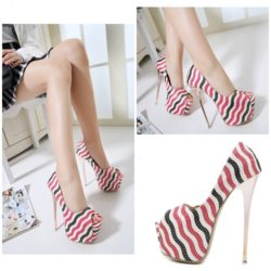 SHH168211 MATERIAL PU HEEL 16CM COLOR WHITE SIZE 35