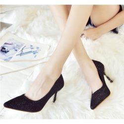 Rp 130.000 Pilih Ukuran · SHH202-black Sepatu Heels Elegan Wanita Cantik  8.5CM 1f46f5866c