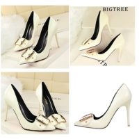 SHH258618 MATERIAL PU HEEL 10CM COLOR WHITE SIZE 35
