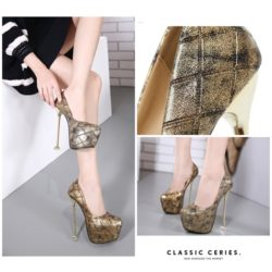 SHH3163 MATERIAL PU COLOR GOLD HEEL 16CM SIZE 36