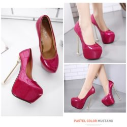 SHH3166 MATERIAL PU HEEL 16.5CM COLOR RED SIZE 35