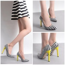 SHH32715 MATERIAL PU HEEL 11.5CM COLOR YELLOW SIZE 35