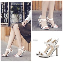 SHH6161 IDR.216.000 MATERIAL PU COLOR WHITE HEEL 10CM SIZE 35,36,37,38,39