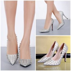 SHH6783 MATERIAL PU HEEL 11CM COLOR SILVER SIZE 35