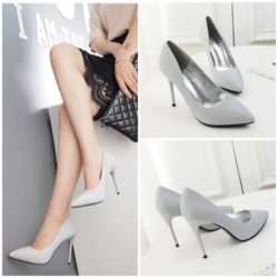 SHH779822 MATERIAL PU HEEL 10CM COLOR SILVER SIZE 35