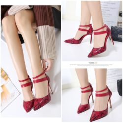 SHH825A1 MATERIAL PU HEEL 10CM COLOR RED SIZE 35