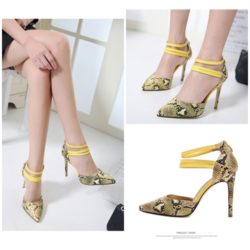 SHH825A1 MATERIAL PU HEEL 10CM COLOR YELLOW SIZE 35