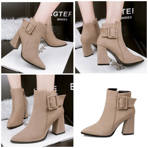 SHH8333 MATERIAL PU HEEL 11CM COLOR BROWN SIZE 35