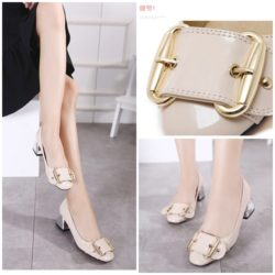 SHH86869 MATERIAL PU HEEL 5.5CM COLOR PINK SIZE 35