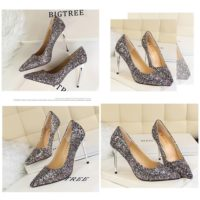 SHH92191 MATERIAL PU HEEL 9.5CM COLOR RAINBOW SIZE 35