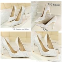 SHH92191 MATERIAL PU HEEL 9.5CM COLOR WHITE SIZE 35