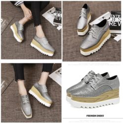 SHS21683 MATERIAL PU COLOR SILVER SIZE 35