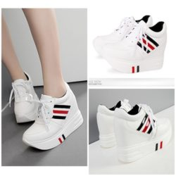SHS508 MATERIAL PU HEEL 4CM COLOR WHITE SIZE 35