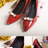 SHS67815 MATERIAL PU COLOR RED SIZE 35