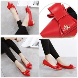 SHS8851  MATERIAL PU COLOR RED SIZE 36