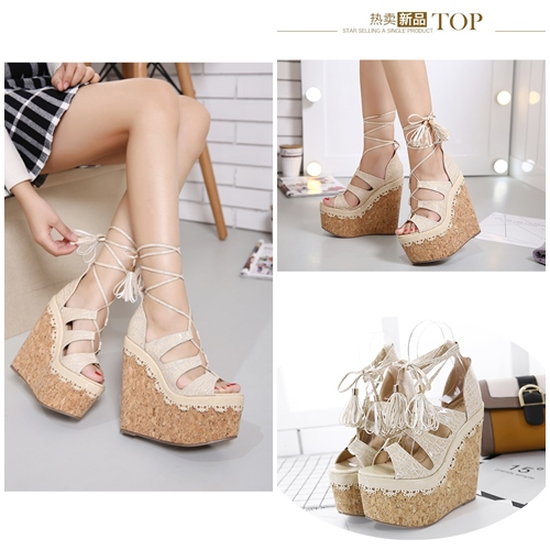 SHW1583 MATERIAL PU HEEL 16CM COLOR APRICOT SIZE 35