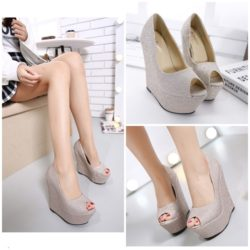 SHWI13936 DR.232.000 MATERIAL PU HEEL 12CM COLOR GOLD SIZE 35,36,37,38,39,40